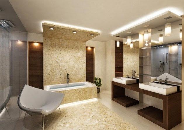 Salle De Bain Inspiration Spa : Salle De Bain Beige: Decoration salle de bains marron. La petite salle …