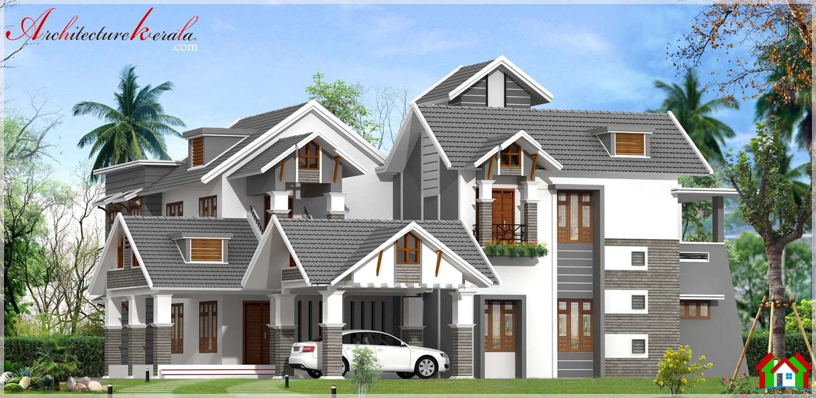 Contemporary style beautiful kerala house in 4000 square for 4000 sq ft house cost