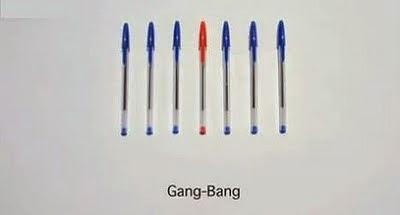 El sexo explicado con lapiceras gang bang