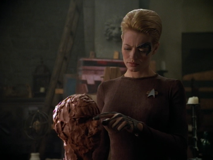 My year of star trek voyager re watch the raven for Mirror janeway