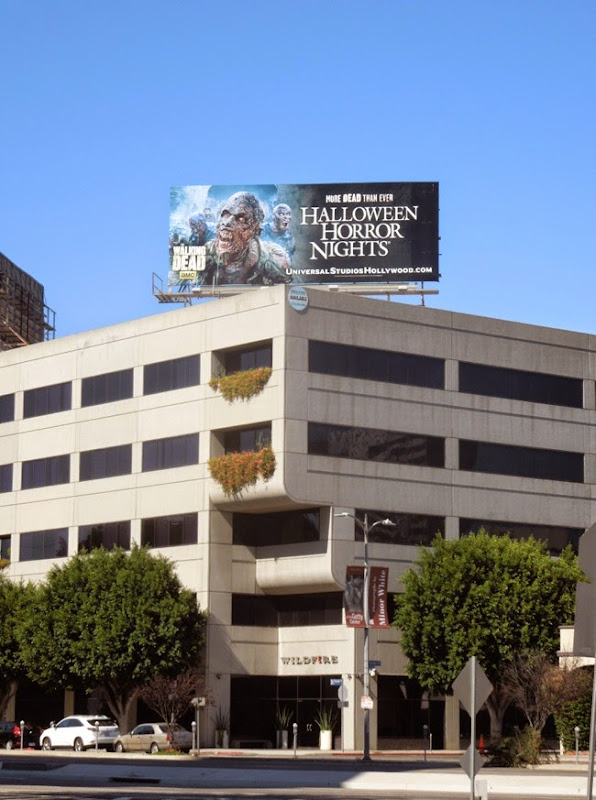 Walking Dead Halloween Horror Nights billboard 2014