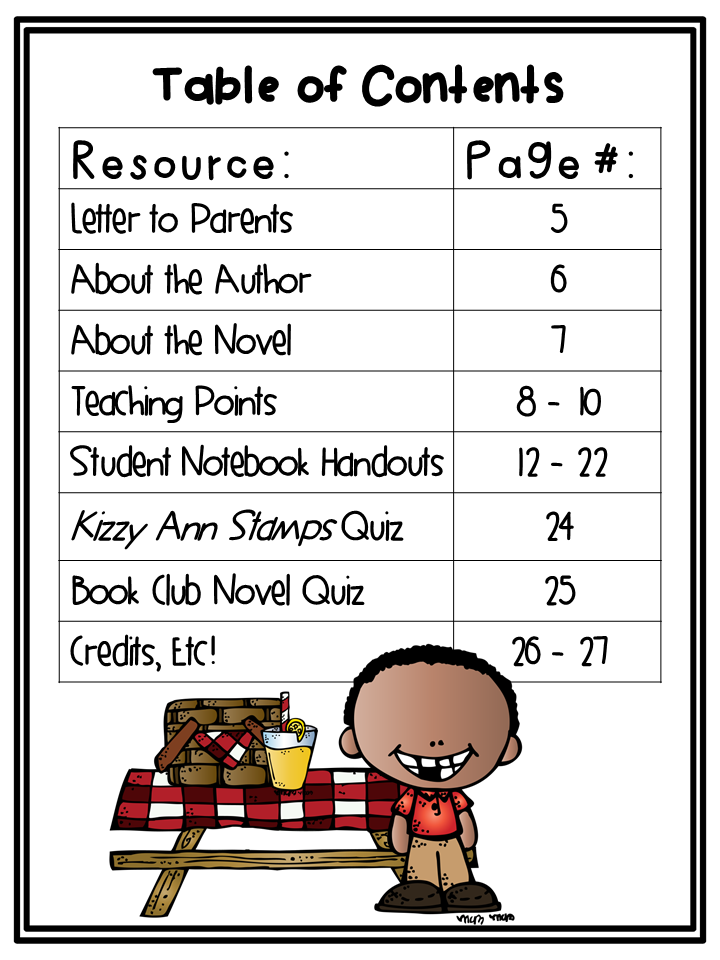 http://www.teacherspayteachers.com/Product/Kizzy-Ann-Stamps-Novel-Study-1340592