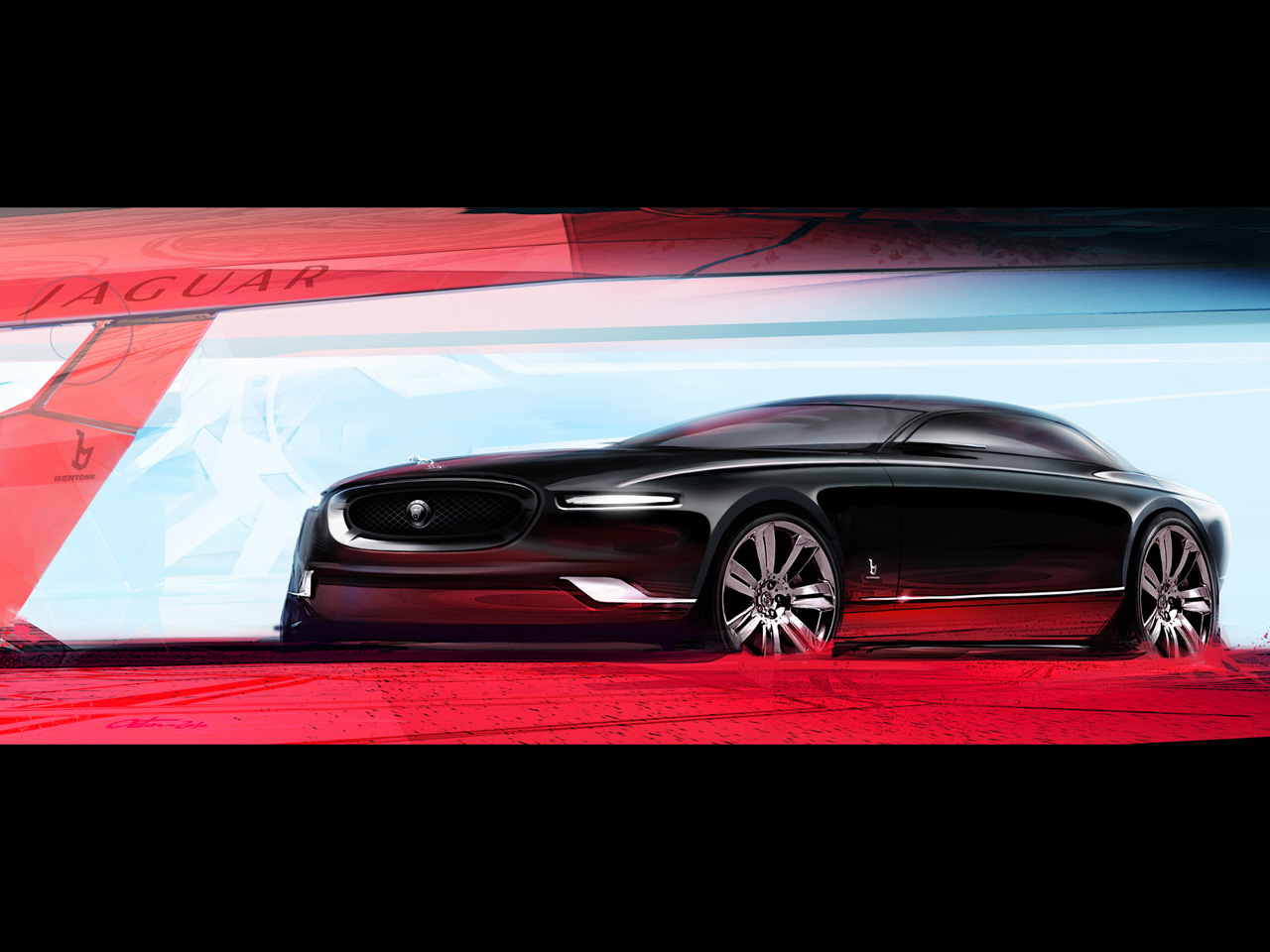 Bertone Jaguar B99 Concept 2011Jaguar Car Drawing