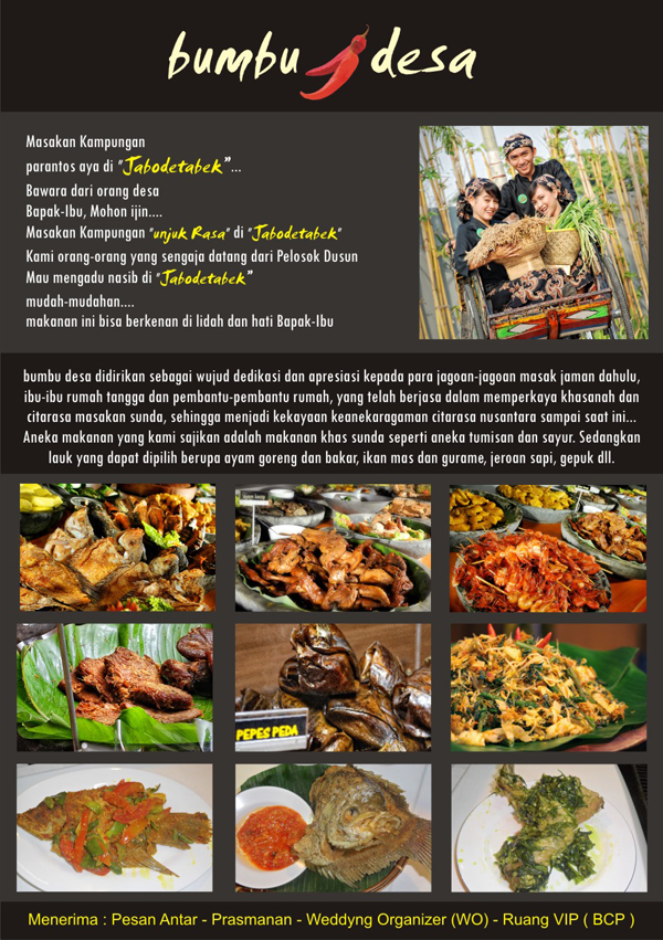 Brosur Promosi Makanan Bumbu Desa