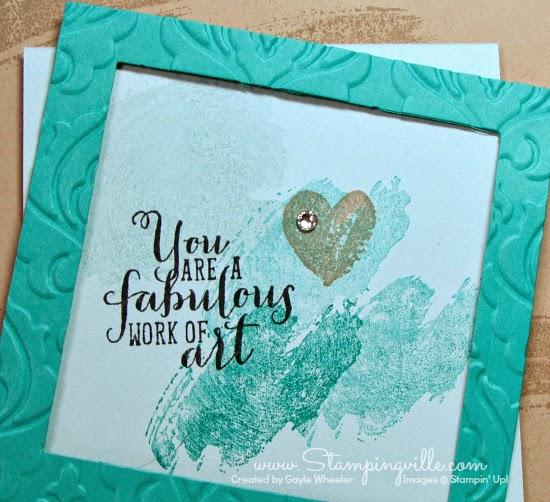 Stampingville: Frame your fabulous work of art #cardmaking #crafts #StampinUp