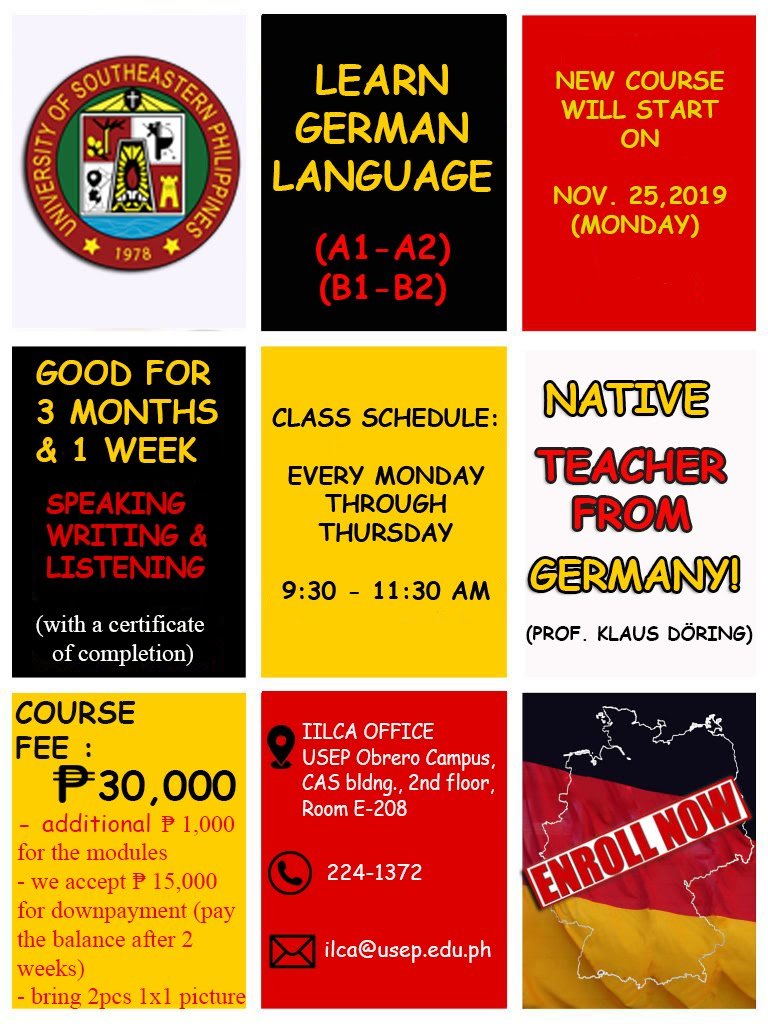 Deutsche Sprache in Davao City! German Language in Davao City!