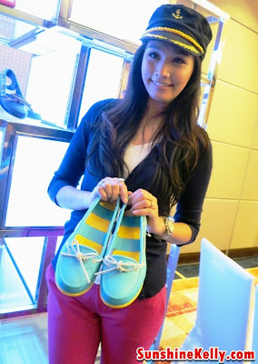Scha Alyahya with Crocs Beach Line Boat Shoe