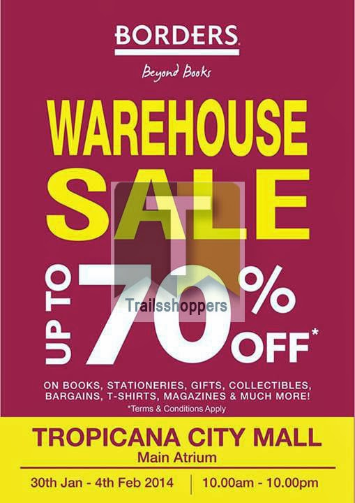 Borders Books Warehouse Sale Tropicana city Mall