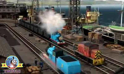 Thomas the train Brendam docks ship waterfront Salty the dockyard diesel and Edward the blue engine