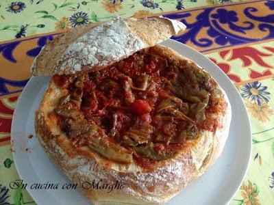 Pane ripieno con friggitelli piatto lucano