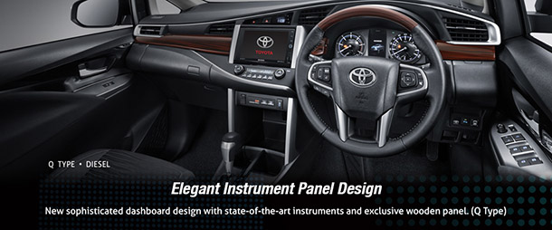 Interior Kabin Toyota All New Kijang Innova Tipe Q, Elegant Instrument Panel Design