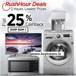 Buy  LG Appliances Flat 25% cashback starting Rs. 4740 only