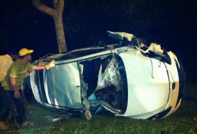 kereta Aida Af9 kemalangan