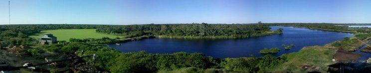 """""""La Laguna Escondida"""" vista panorámica desde arriba"""