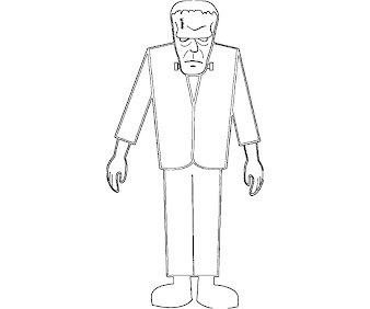 #1 Frankensteins Coloring Page
