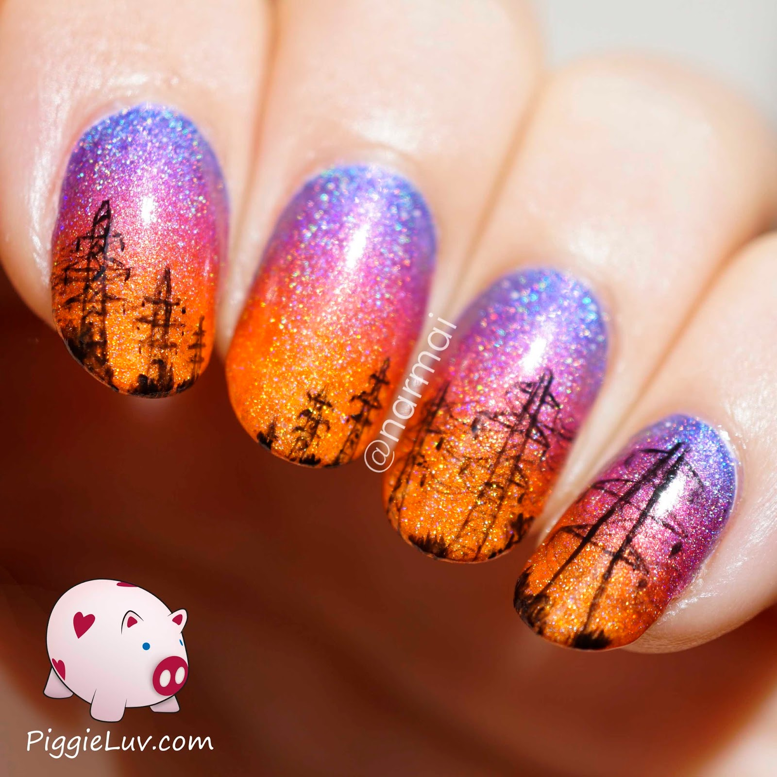 One Line Nail Art : Piggieluv high voltage power lines nail art