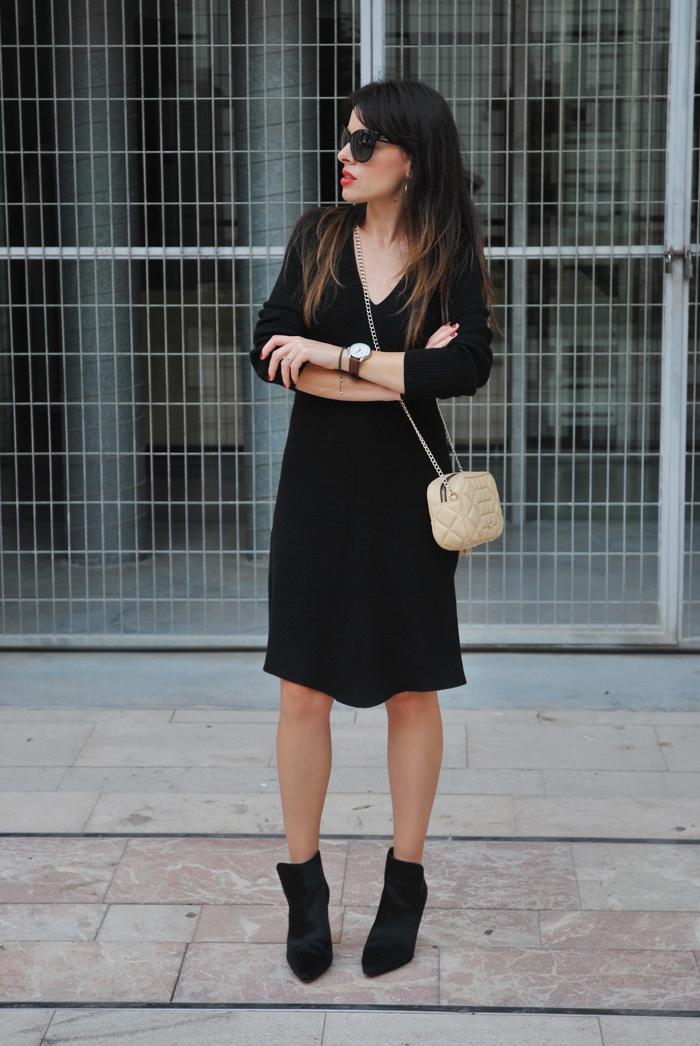 Vestido punto outfit