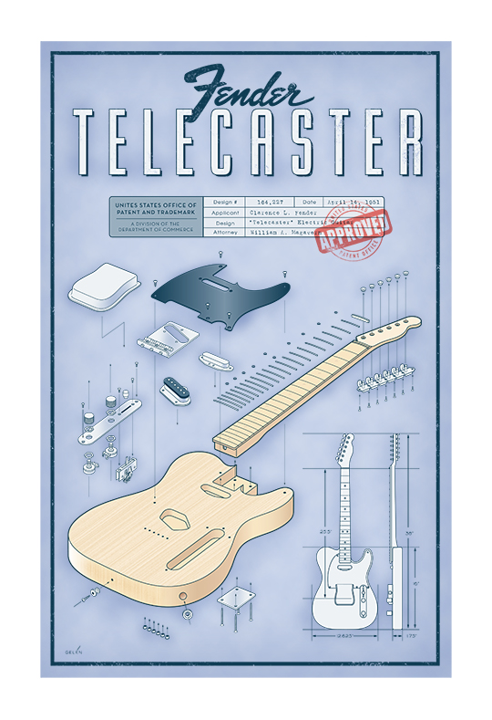 Inkwell Studios: Telecaster Schematic