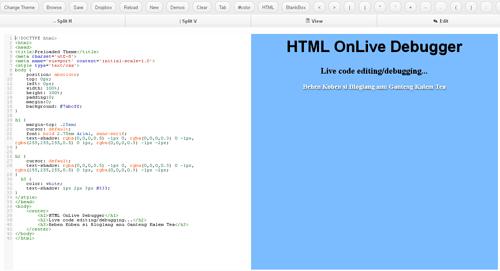 HTMLOnLiveDebugger