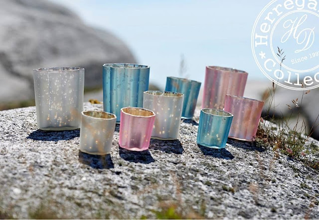 magical pastel candle holders