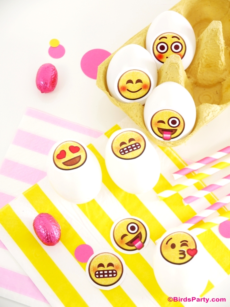 Emoji Inspired DIY Easter Eggs with Party Printables