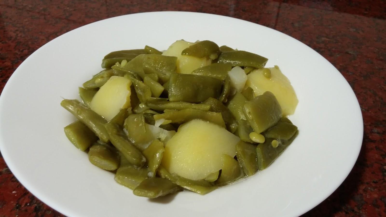 Las cosas de lorena jud as verdes con patatas - Calorias de las judias verdes ...