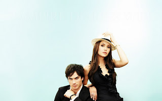 Vampire Diaries Couple Nina Dobrev and Ian Somerhalder HD Wallpaper