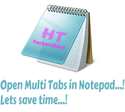 Notepad multi tabs