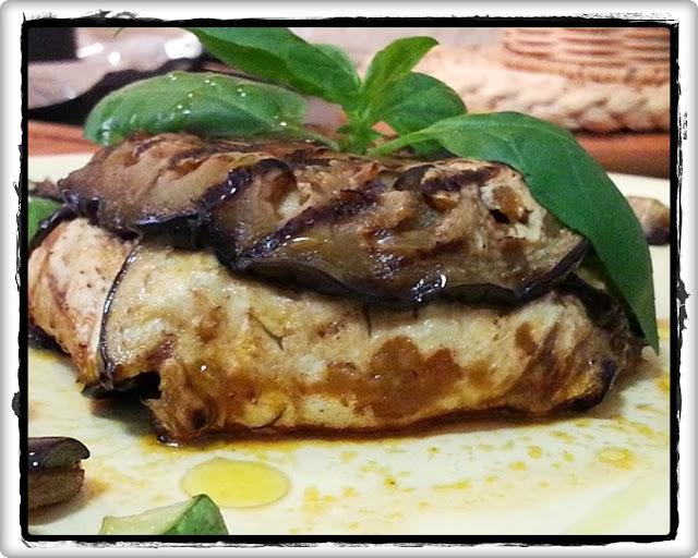 parmigiana light con caponata