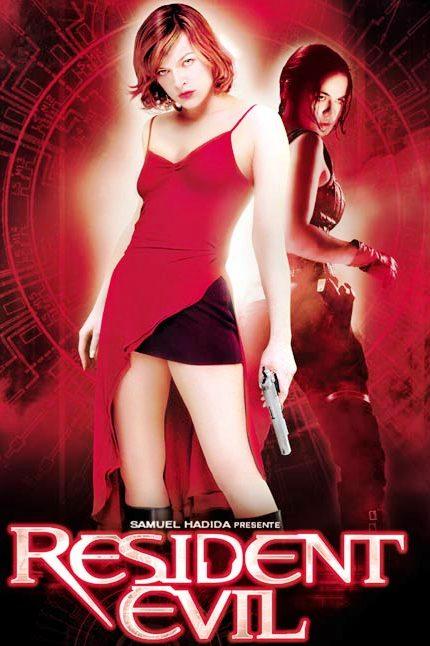Cartel de la película Resident Evil con Milla Jovovich