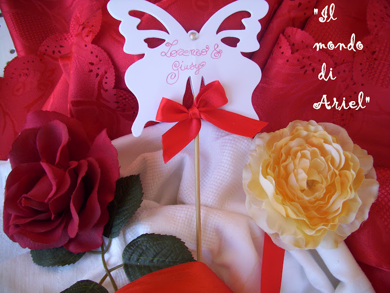 Matrimonio Tema Farfalle : Il mondo di ariel segnaposto matrimonio tema farfalle