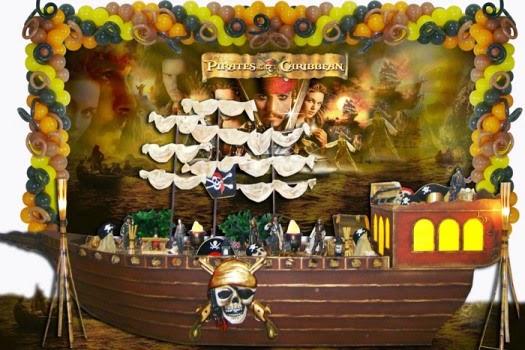 Fiestas Infantiles Decoradas con Piratas del Caribe, parte 2