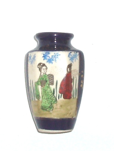 Pottery And Glass Art Hand Painted Miniature Porcelain Vase