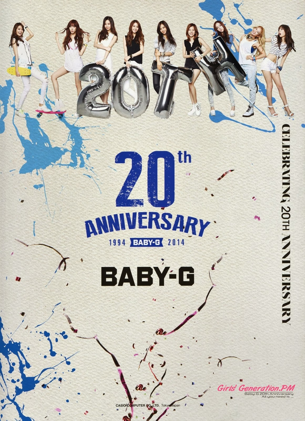 SNSD Baby-G 20th Anniversary Girls Generation