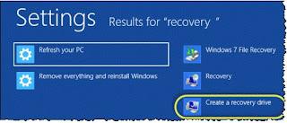 Cara Membuat Recovery Disk Disk Pemulihan di Windows 8