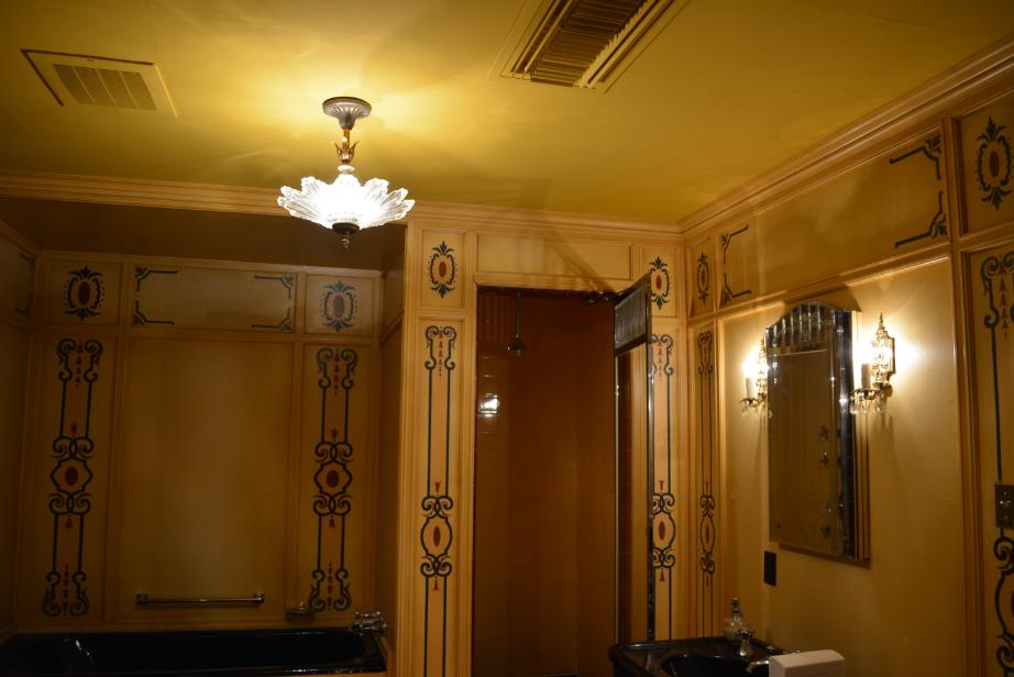 hand painted floral bathroom sinks the closet historian the art deco bathroom