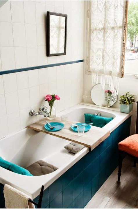 bathroom decor ideas blue