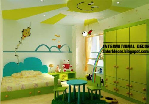 smart choice for ceiling paint, kids room ceiling design ideas