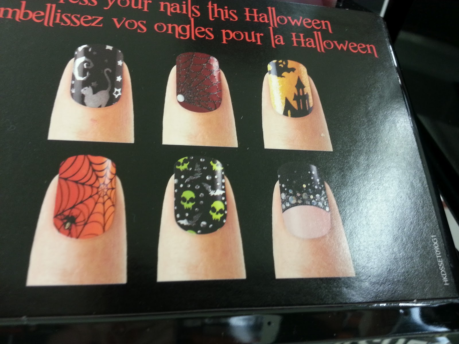 Great Lashing: Halloween Nail Polish Strips from Sally Hansen and Kiss