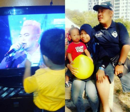Budak Usap Screen TV Sangka Acong Sweetchild Arwah Bapanya