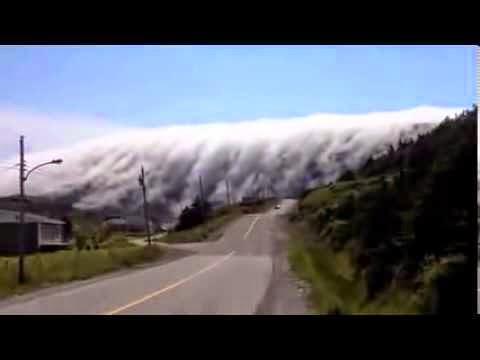 fenomena awan pelik, awan bentuk air terjun