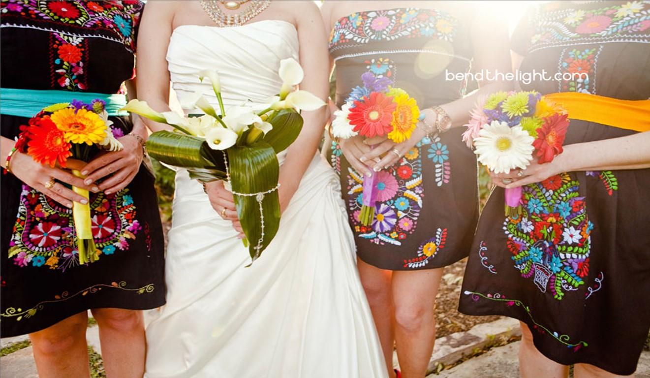 los vestidos para las damas de honor o invitados!