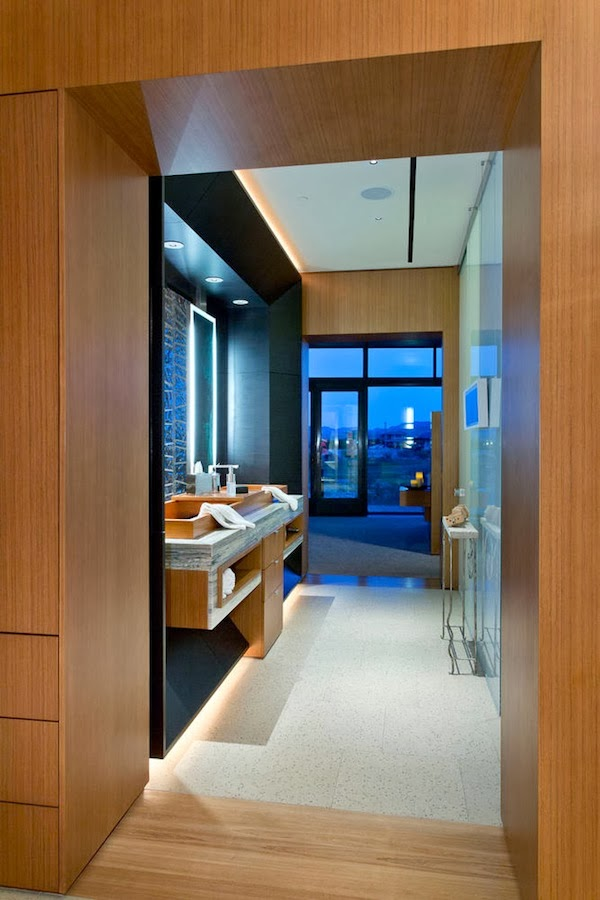 Sixth bathroom in Multimillion modern dream home in Las Vegas
