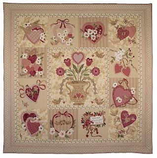 Vintage Valentine applique quilt pattern by Verna Mosquera