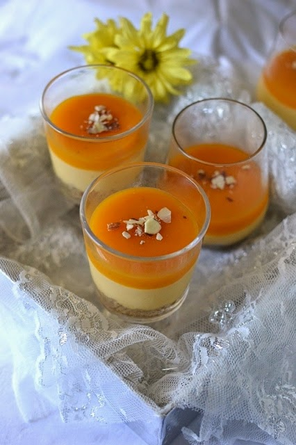 Eggless No-Bake Mango Cheesecake (using Agar-Agar)