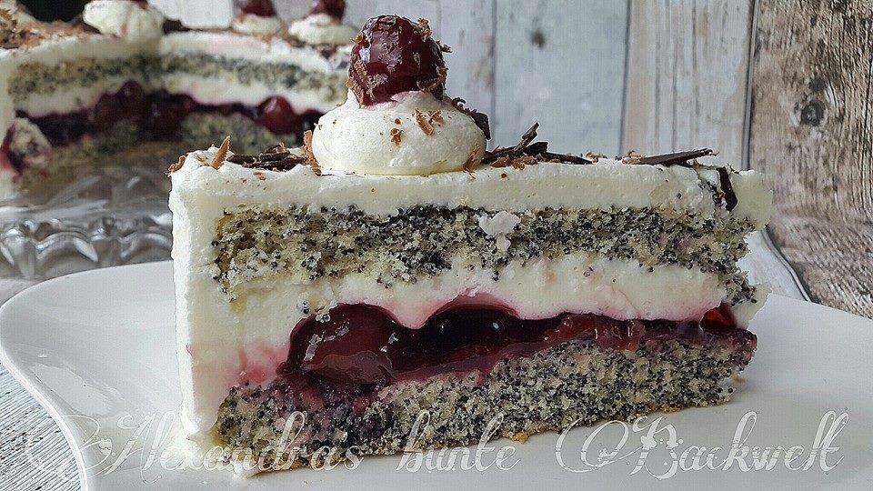 Kirsch Mohn Torte