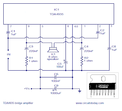 15W Stereo audio Amplifier using TDA 4935