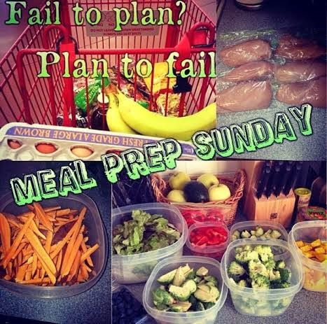 meal prep, fail to plan plan to fail, clean eating, weight loss