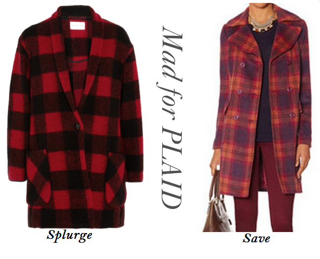 Plaid Coats, Tartan Coats, Plaid Coats Save vs Steal, Top Fall Fashion Trends