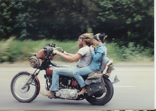 Knucklehead chopper in the 1980s